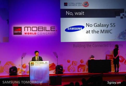 Se khong co chiec Galaxy S5 nao cho trien lam MWC 2014