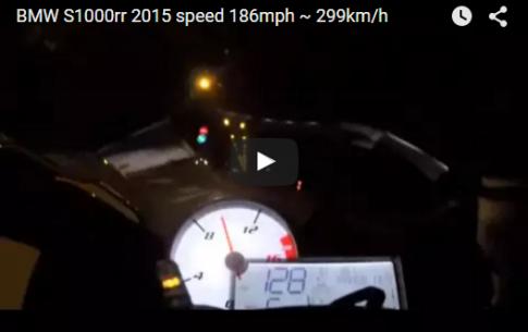Siêu Môtô BMW S1000rr 2015 cán mốc 186mph ~ 299km/h trên cao tốc