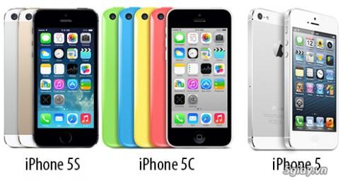 So sanh cau hinh iPhone 5S, iPhone 5C va iPhone 5