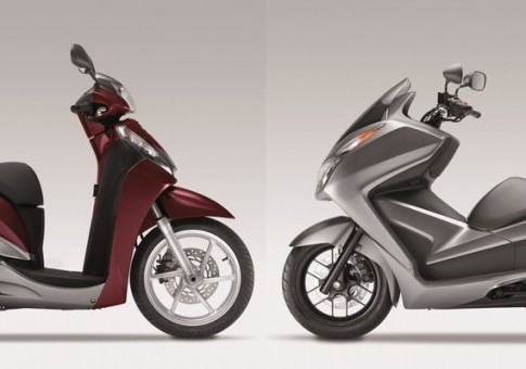 So sanh giua Honda Forza 300 va SH300i