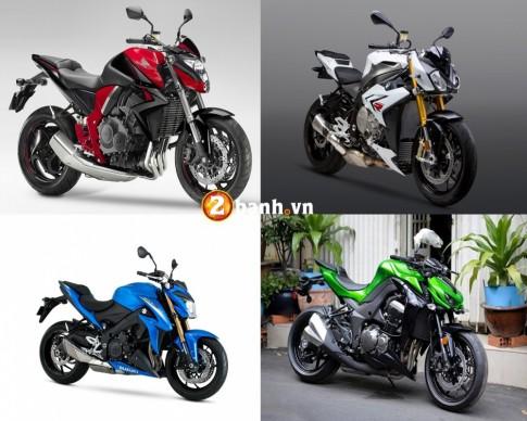 So sánh Kawasaki Z1000, Honda CB1000R, BMW S1000R và Suzuki GSX-S1000