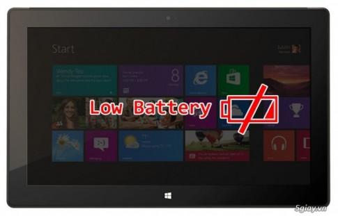Sua loi hao pin tren Surface RT dung Windows 8.1