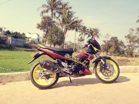 Suzuki Raider độ phong cách ở miền quê