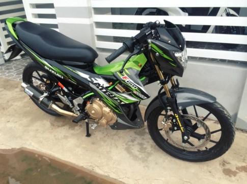 Suzuki Raider Viet Nam do chat theo phong cach dragbike