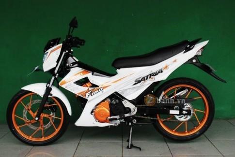 Suzuki Satria F ra mắt phiên bản White Fighter