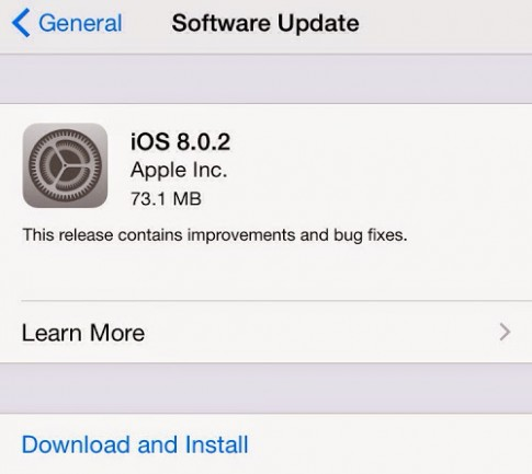 Tai va cai dat iOS 8.0.2 cho iPhone, iPad, iPod Touch