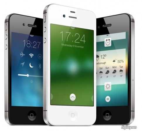 "Theme Convergance: ""Lot xac"" Lockscreen iOS 7 voi cac hieu ung tinh te"