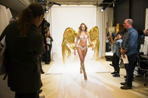 'Thiên thần' Candice Swanepoel thử nội y Victoria's Secret 2014