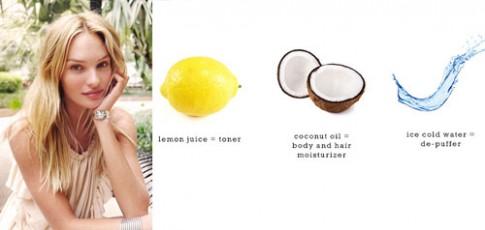 'Thiên thần' Victoria's Secret tự chế mặt nạ dưỡng da