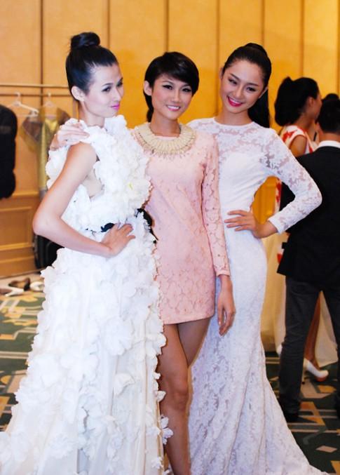 Thien Trang long lay voi vay ngan hoa