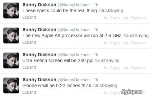 [Tin don] iPhone 6: Man hinh Ultra Retina, 2.6GHz A8, mong 5.5mm