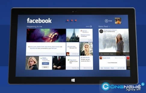 Ung dung Facebook tren Windows 8.1 len top