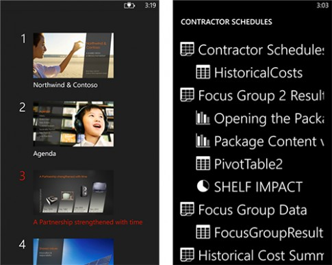 Ung dung Office Remote, bien Windows Phone thanh dieu khien tu xa cho Office 2013