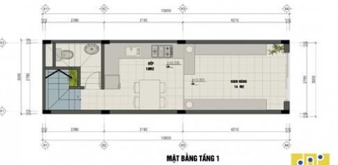 Xây nhà 3 tầng, 3 phòng ngủ trên đất 30 m2