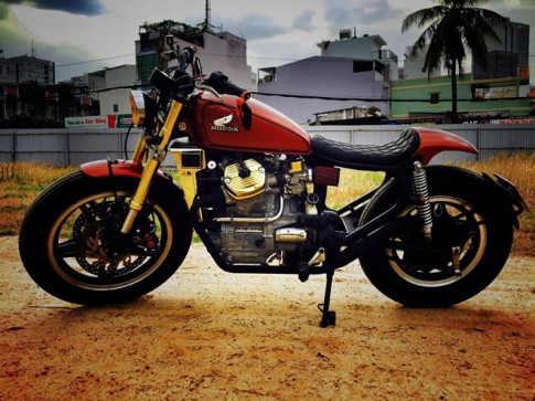 Xe do Honda GL500 cuc chat cua nu biker 8X Hai Phong