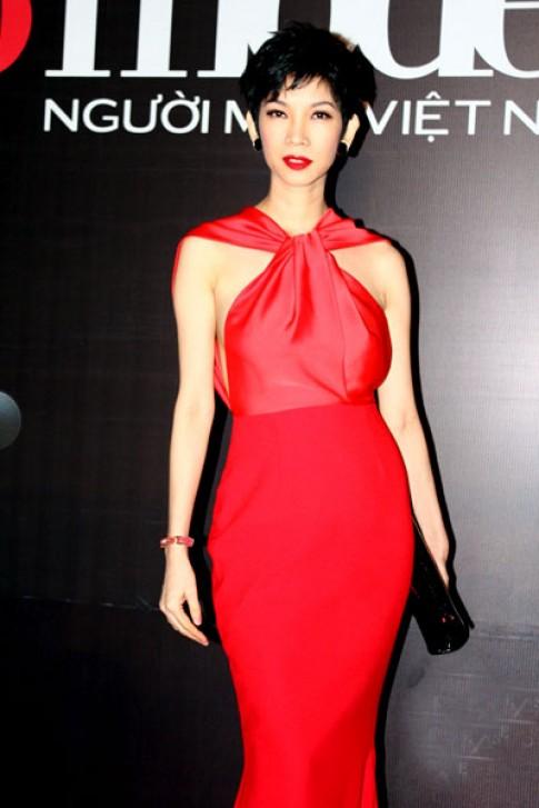 Xuan Lan do ruc di xem chung ket Top Model 2013