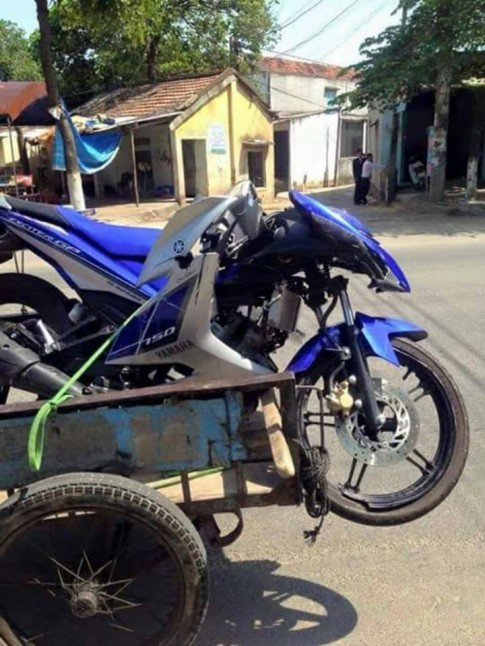 Yamaha Exciter 150 phiên bản hồi sinh sau khi bị tai nạn