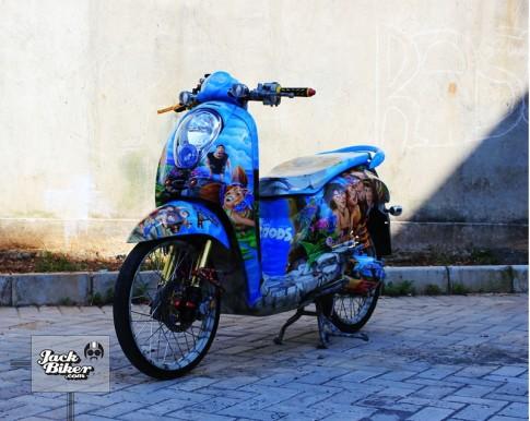 Yamaha Fino tu bo phim THE CROODS !!