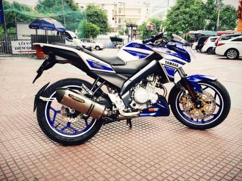 Yamaha FZ150i xanh Gp độ đẹp với cặp mâm lạ