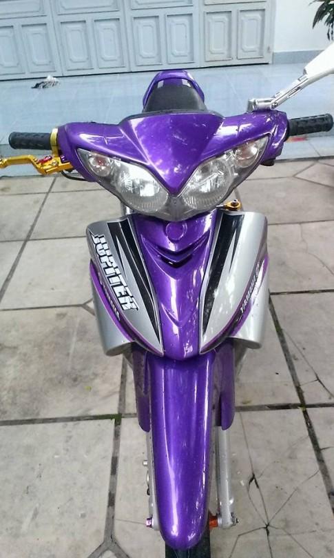 Yamaha Jupiter độ kiểng tông màu tím huyền bí