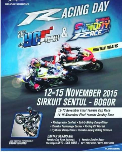 Yamaha khởi động Racing Day trong tháng 11/2015