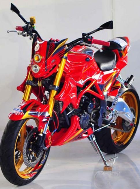Yamaha Scorpio - Phong cach Streetfighter
