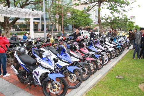 Yamaha tang lop lon cho Nouvo, Exciter o 3 mien hoi tu.