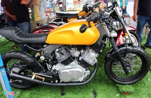 Yamaha VX750 độ cafe racer cực kì phong cách tại ngày hội môtô