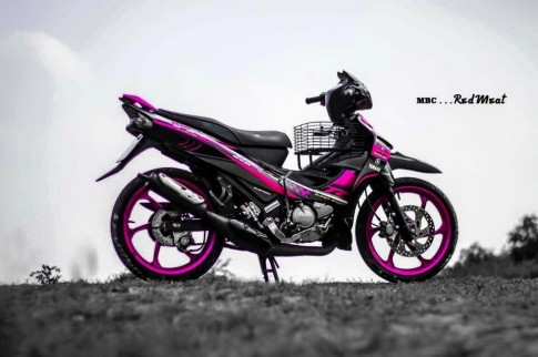 Yamaha Z125 hồng nổi bật quyến rũ