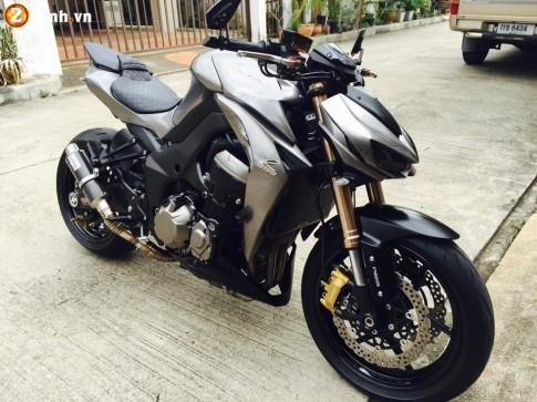 Z1000 2014 siêu ngầu với phiên bản độ xám đen