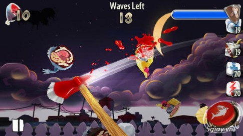 Zombie Toss: game lam thit Zombie