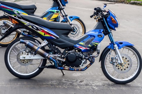 Bo doi Honda Sonic do khung cua biker Sai Gon