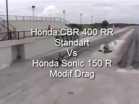 [Clip] Test Honda CB400RR vs Sonic 150 Drag va ket qua kho tin
