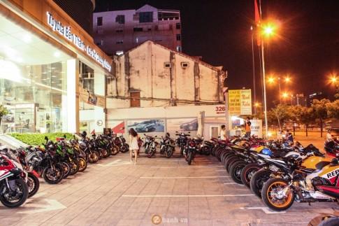 Hang chuc Motor PKL khung tu tap mung khai truong Samco Club