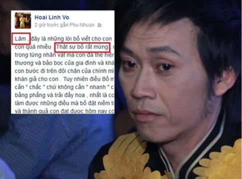 Hoai Linh viet tam thu gui con Hoai Lam