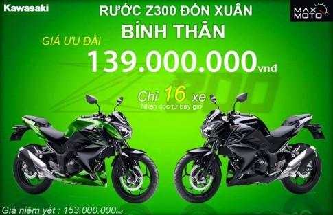 Kawasaki Z300 ra mat thi truong Viet Nam voi gia chi 139 trieu dong
