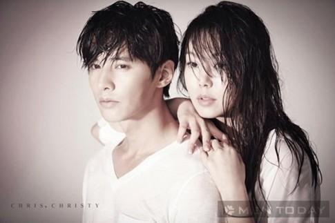 Kim Min Hee tinh tu cung Won Bin trong bst thoi trang Chris. Christy