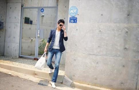 Quan jeans don gian nhung nam tinh