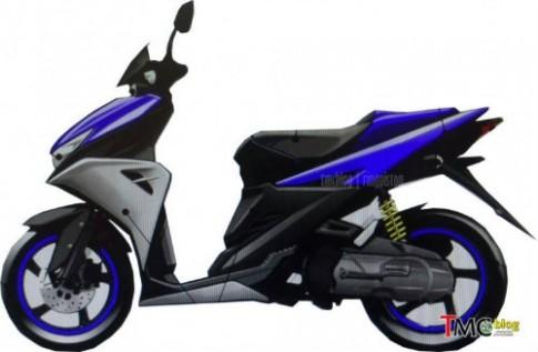 Rò rỉ hình ảnh mẫu xe tay ga Yamaha Aerox 125 hoàn toàn mới