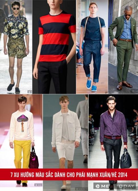 7 xu hướng màu sắc cho phái mạnh xuân/hè 2014