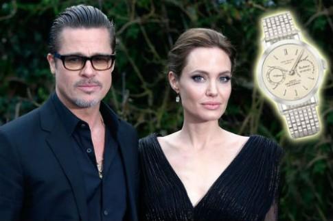 Angelina Jolie tang Brad Pitt dong ho Thuy Si 3,2 trieu USD lam qua cuoi