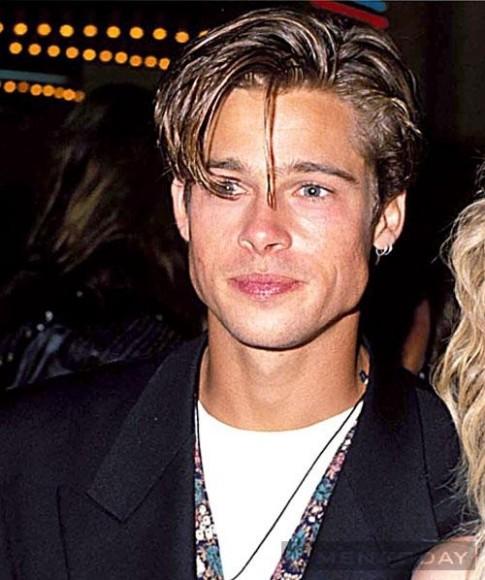 Brad Pitt lang xe mot toc haircut cho mua He 2014