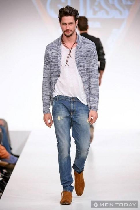 BST thời trang nam xuân hè 2014 đơn giản, nam tính từ Guess