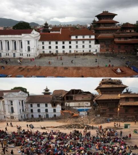 Cac di tich cua Nepal truoc va sau dong dat