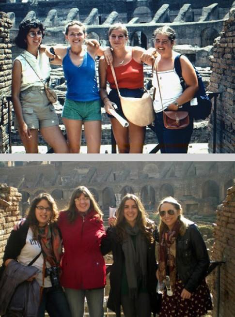 Cô gái du lịch châu Âu 'nhái' mẹ 30 năm trước