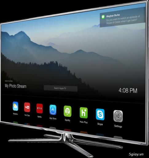 Concept giao dien nguoi dung tren chiec HDTV cua Apple