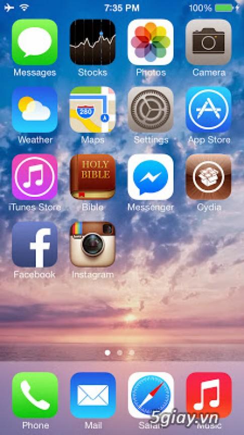 Da co jailbreak untethered cho iOS 7