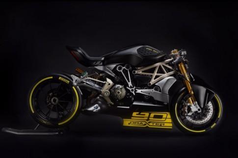 Ducati DraXter Concept phien ban dua Drag Race cua Ducati XDiavel 2016