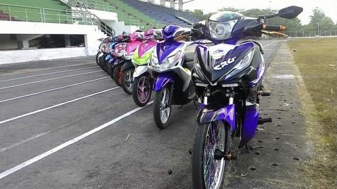 Honda Wave RSX 2015 tem dau do kieng doc dao phong cach Exciter cua biker Dong Nai.