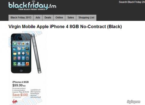 iPhone 4 8GB khong can hop dong gia chi 2,2 trieu